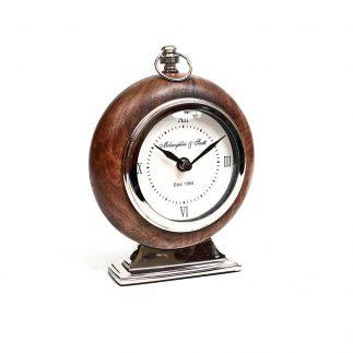 שעון – מסגרת עץ עגולה