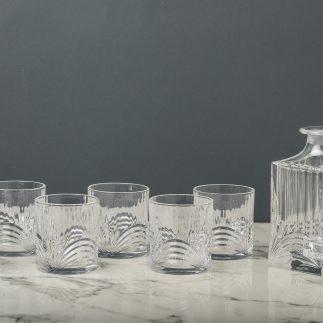 דיקנטר + 6 כוסות וויסקי
