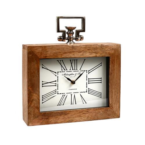 שעון מסגרת עץ - מלבני 2.0
