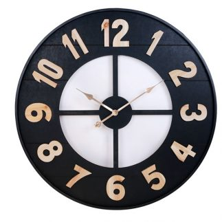 שעון עץ – ARIK שחור בינוני/גדול