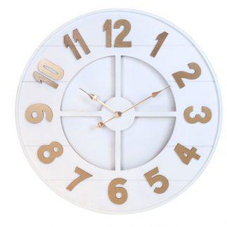 שעון עץ – ARIK לבן בינוני/גדול