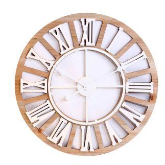 שעון עץ – ARI לבן בינוני/גדול