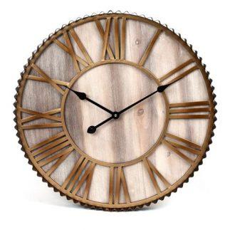 שעון קיר – GOLD WOOD