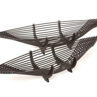 זוג מגשי במבוק – שחור/צבע טבעי
