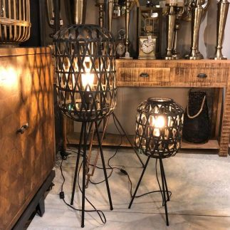 מנורת רצפה -BLACK MAMBA גדול/קטן