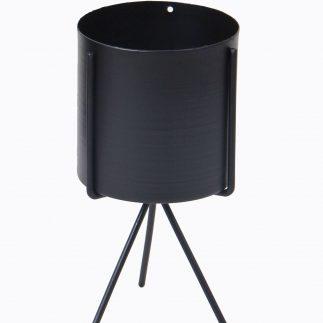 בית עציץ מתכת – BOXY שחור מט