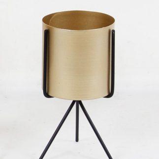בית עציץ מתכת – BOXY זהב