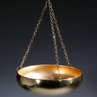 מעמד עציצים לתקרה – BOWL זהב מט/שחור מט