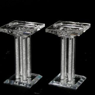 זוג פמוטי קריסטל + אבנים לבנות – WHITESTONE