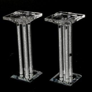 זוג פמוטי קריסטל + אבנים לבנות – WHITESTONE 2.0