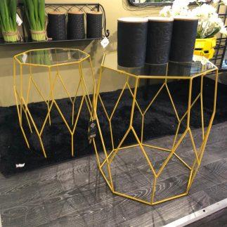 זוג שולחנות צד – GEO צהוב
