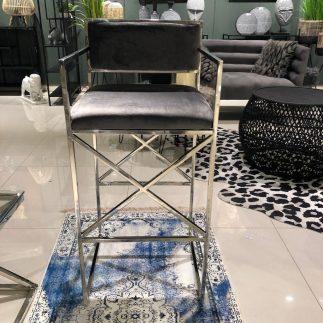 כיסא בר – HOUSTON כסוף – אפור
