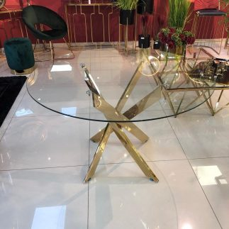 שולחן אוכל – CROSS זהב