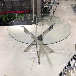 שולחן אוכל – CROSS כסף