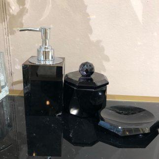 סט אמבט – BLACK CRYSTAL