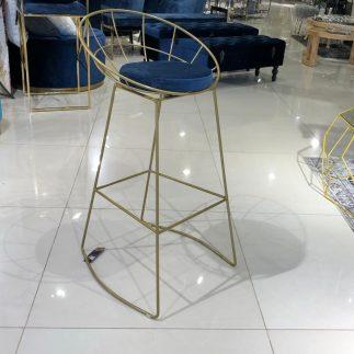 כיסא בר – BARCELONA זהב – כחול