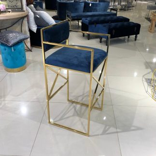 כיסא בר – HOUSTON זהב – כחול