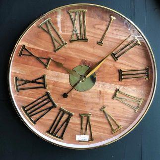 שעון יוקרה לקיר – PLEASURE בשני צבעים זהב/ניקל