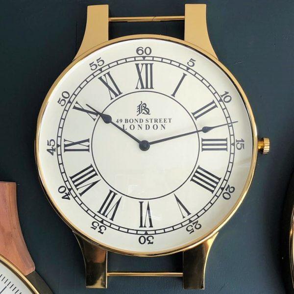 שעון יוקרה לקיר - DELIGHT בשני צבעים זהב/כסף
