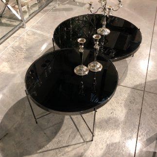 שולחן סלון – BLACK MIRROR שחור גדול/בינוני