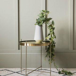 שולחן צד / שידה לחדר שינה  – TWIG זהב