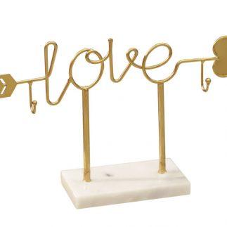 מעמד תכשיטים – LOVE זהב