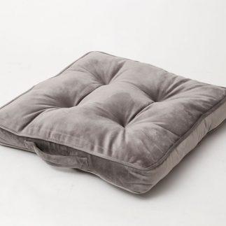 כרית ישיבה קטיפה – SITTING אפור בהיר