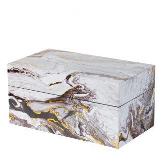 קופסת תכשיטים – WHITE MARBLE