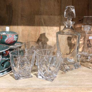 דיקנטר + 6 כוסות וויסקי – ROMEO