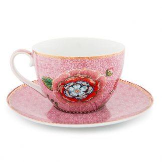 סט 2 או 6 כוסות קפוצ'ינו – PINK SPRING