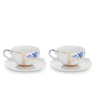 זוג כוסות אספרסו – ROYAL WHITE&BLUE