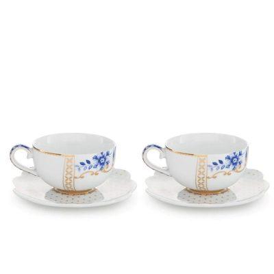זוג כוסות אספרסו - ROYAL WHITE&BLUE