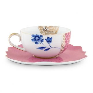סט 6 כוסות תה + תחתית – ROYAL PINK