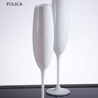 סט 6 גביעי שמפניה שחורים/לבנים – BOHEMIA