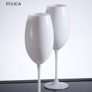 סט 6 גביעי יין שחור/לבן – BOHEMIA
