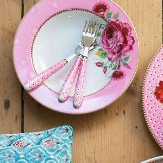 סט 6 צלחות מרק/סלט – PINK FLORAL