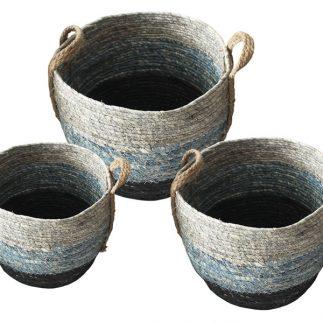 שלישיית סלסלאות חבלים + ידיות חבל – 1010