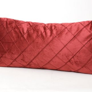 כרית נוי מלבנית – VELLUTO אדום