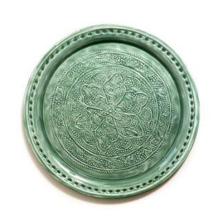 מגש מתכת – GEFEN ירוק/אפור בהיר/אפור כהה