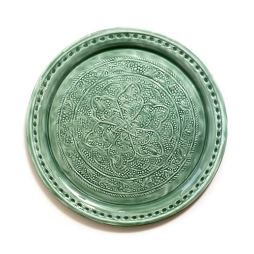 מגש מתכת - GEFEN ירוק/אפור בהיר/אפור כהה