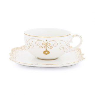 סט 6 כוסות תה + תחתית – ROYAL GOLD