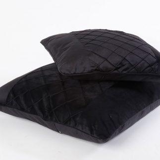 כרית נוי – VELLUTO שחור גדול/קטן
