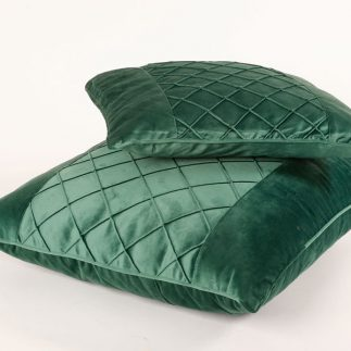 כרית נוי – VELLUTO ירוק גדול/קטן
