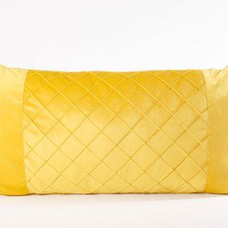 כרית נוי מלבנית – VELLUTO צהוב