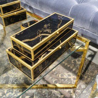 זוג קופסאות תכשיטים – BLACK SAKURA גדול