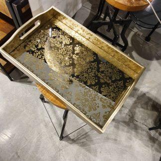 זוג מגשים מלבניים – GOLD SPADE