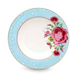 סט 6 צלחות מרק/סלט – BLUE FLORAL