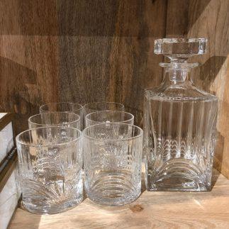 דיקנטר + 6 כוסות וויסקי – DUBLIN