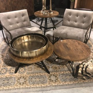 שולחן סלון עץ מלא – ETSY גדול/קטן