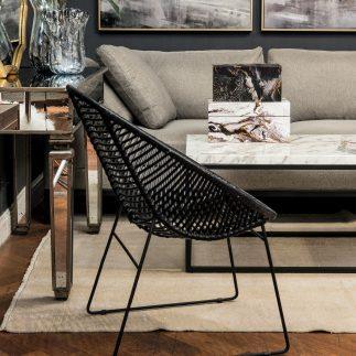 כורסא – BLACK RATTAN